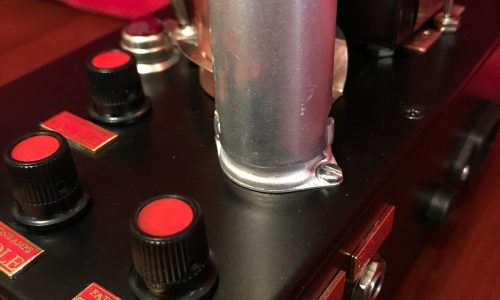 Fat Box tube preamp - top and side view - sockets