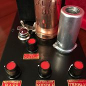 Fat Box tube preamp - top view