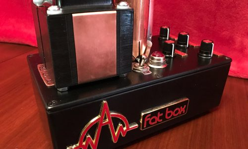 Fat Box tube preamp - top and side view
