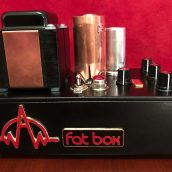 Fat Box tube preamp - side view - logos
